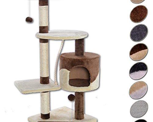 dibea kb00204 kratzbaum f r katzen 112 cm h he braun beige taketik. Black Bedroom Furniture Sets. Home Design Ideas