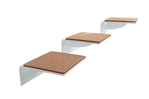 3er set katzentreppe klein wei gelaserte kanten ein muss f r jeden katzenfan stufengr e. Black Bedroom Furniture Sets. Home Design Ideas