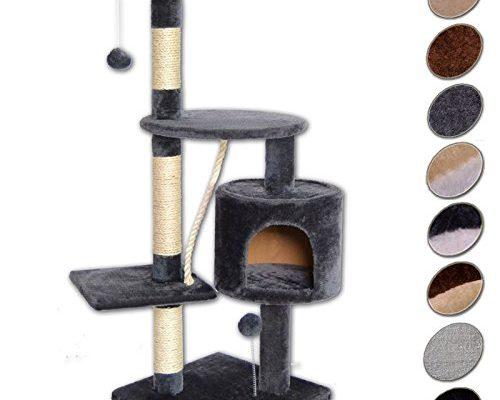 dibea kb00203 kratzbaum f r katzen 112 cm h he grau taketik. Black Bedroom Furniture Sets. Home Design Ideas