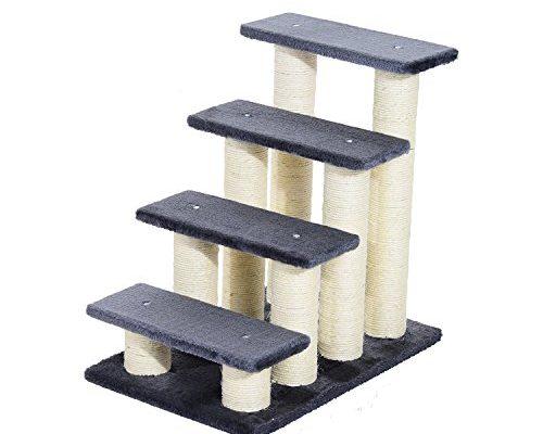 pawhut tiertreppe katzentreppe hundetreppe treppe f r katze und hunde 4 stufen modell 1 taketik. Black Bedroom Furniture Sets. Home Design Ideas