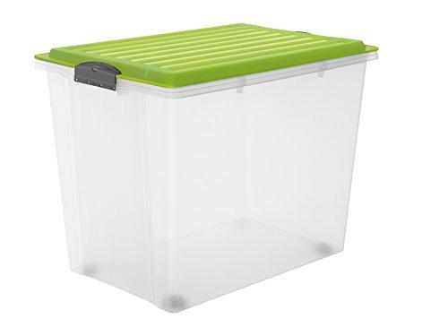 rotho 1164905519 roll box compact mit deckel und 4 stabilen rollen aufbewahrungsbox aus. Black Bedroom Furniture Sets. Home Design Ideas