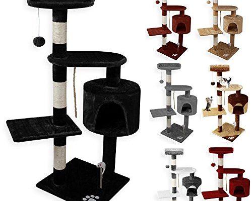 lovpet katzenbaum kratzbaum katzenkratzbaum kletterbaum sisal 112cm hoch spielmaus kuschelh hle. Black Bedroom Furniture Sets. Home Design Ideas