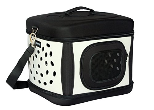 12041 1491 transportbox transporttasche hundetasche hund katze faltbar schwarz beige taketik. Black Bedroom Furniture Sets. Home Design Ideas